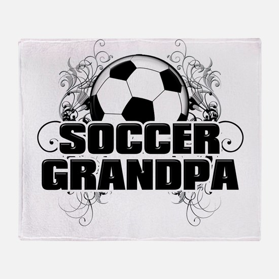 Soccer Grandpa (cross).png Throw Blanket