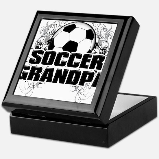 Soccer Grandpa (cross).png Keepsake Box
