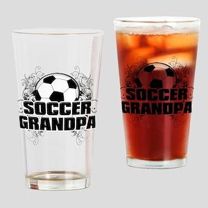 Soccer Grandpa (cross) Drinking Glass