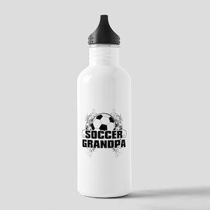 Soccer Grandpa (cross) Stainless Water Bottle