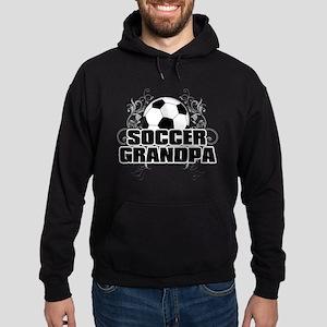 Soccer Grandpa (cross) Hoodie (dark)