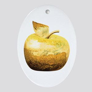 Golden Apple Ornament (Oval)