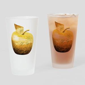 Golden Apple Drinking Glass