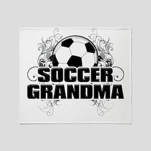 Soccer Grandma (cross) Throw Blanket