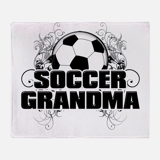 Soccer Grandma (cross).png Throw Blanket