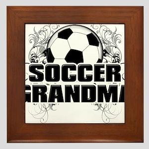 Soccer Grandma (cross) Framed Tile