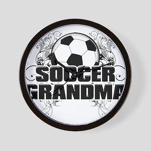 Soccer Grandma (cross) Wall Clock