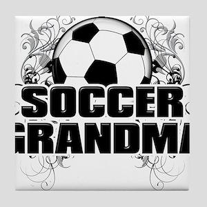 Soccer Grandma (cross) Tile Coaster
