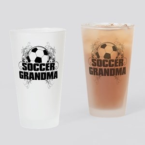Soccer Grandma (cross) Drinking Glass