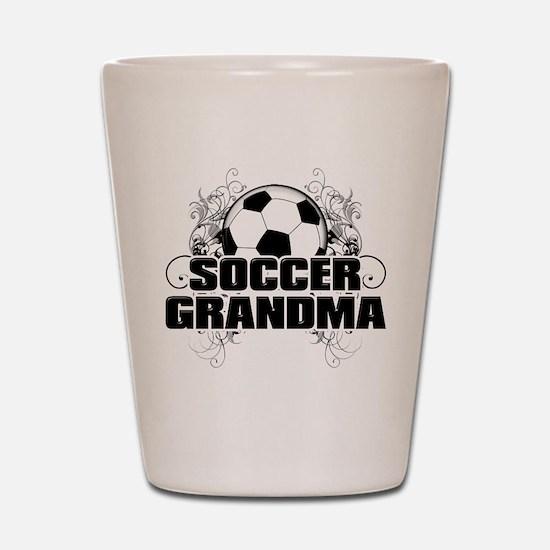 Soccer Grandma (cross).png Shot Glass