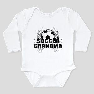 Soccer Grandma (cross) Long Sleeve Infant Body