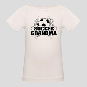 Soccer Grandma (cross) Organic Baby T-Shirt