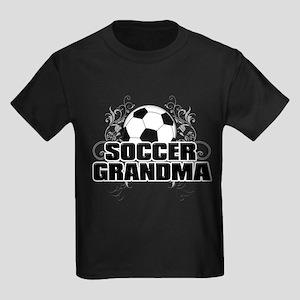 Soccer Grandma (cross) Kids Dark T-Shirt