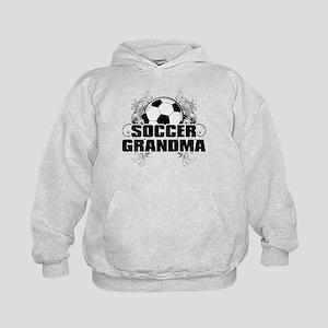 Soccer Grandma (cross) Kids Hoodie