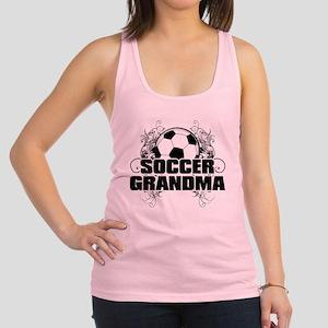 Soccer Grandma (cross) Racerback Tank Top