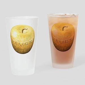 Golden Apple Kallisti Drinking Glass