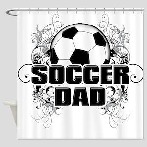 Soccer Dad (cross) copy Shower Curtain