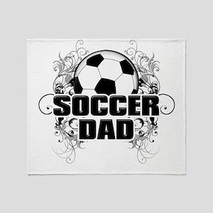 Soccer Dad (cross) copy Throw Blanket