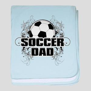 Soccer Dad (cross) copy baby blanket