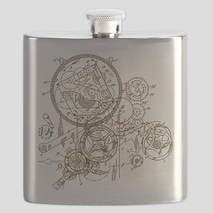 Clockwork Collage Flask