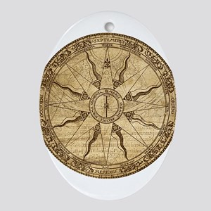 Old Compass Rose Ornament (Oval)