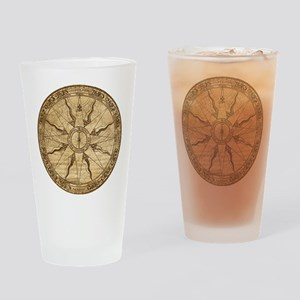 Old Compass Rose Drinking Glass
