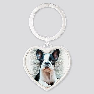 french bulldog Heart Keychain