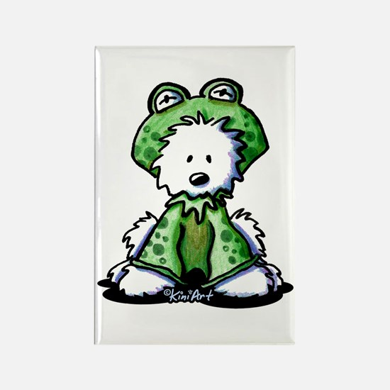 Frog Prince Westie Rectangle Magnet