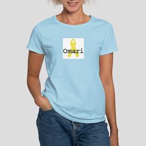 Yellow Ribbon: Omari Women's Pink T-Shirt