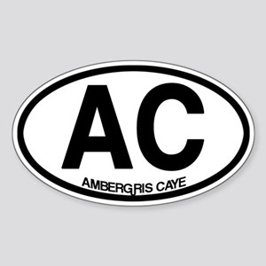 Ambergris Caye Sticker (Oval)