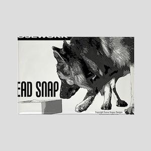 nose work german shepard dog Rectangle Magnet