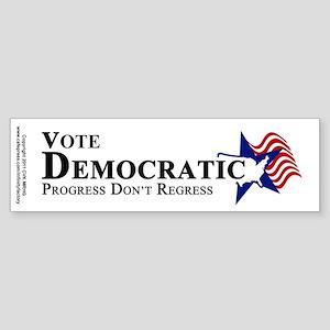 Vote Democratic Progress Sticker (Bumper)