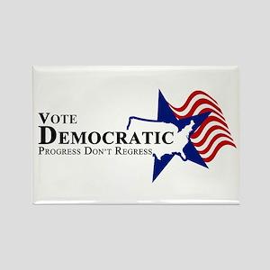 Vote Democratic Progress Rectangle Magnet