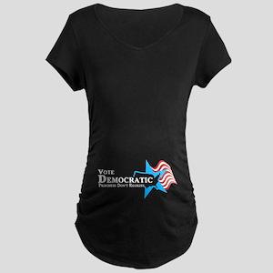 Vote Democratic Progress Maternity Dark T-Shirt