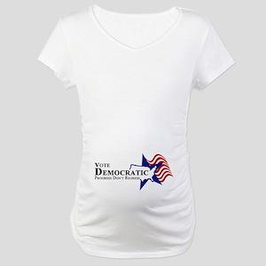 Vote Democratic Progress Maternity T-Shirt