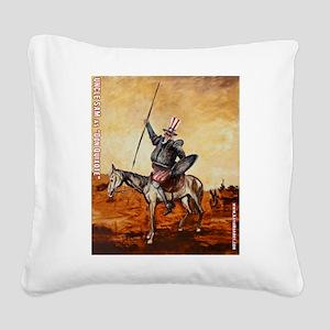 Uncle Sam Square Canvas Pillow