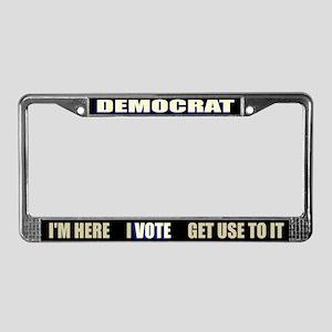 Democrat I Vote License Plate Frame