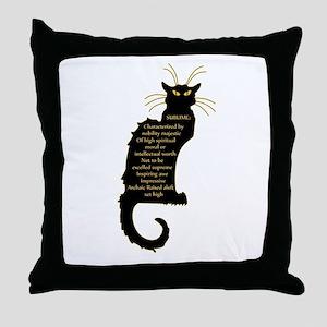 sublime black french kitty cat black Art Nouveau T