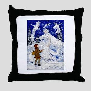 Snow Queen Enhanced Colors Throw Pillow