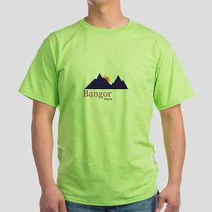 Bangor Maine truck stop novelty tee Green T-Shirt