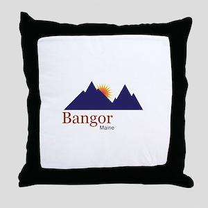 Bangor Maine truck stop novelty tee Throw Pillow