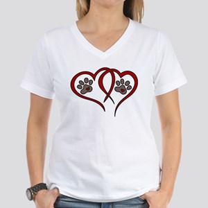 Puppy Love Women's V-Neck T-Shirt