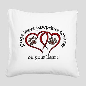 Pawprints Square Canvas Pillow