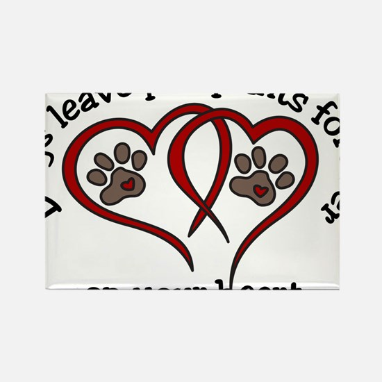 Pawprints Rectangle Magnet
