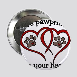 "Pawprints 2.25"" Button"