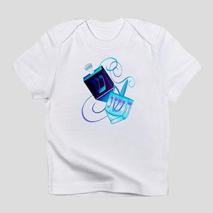 Two Dreidels-Happy Spinning Infant T-Shirt