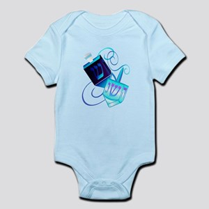 Two Dreidels-Happy Spinning Infant Bodysuit