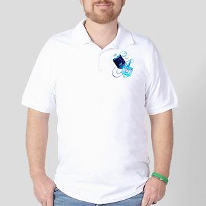 Two Dreidels-Happy Spinning Golf Shirt