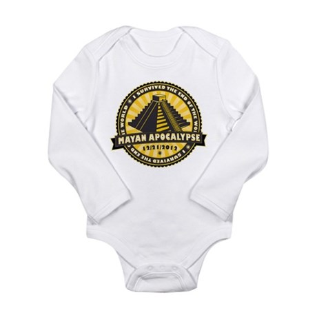 Mayan Apocalypse Long Sleeve Infant Bodysuit
