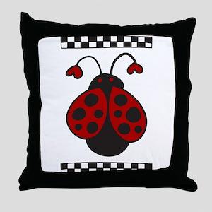 Ladybug Bug Throw Pillow